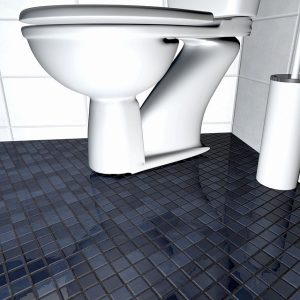 sewer gas in bathroom is normally caused by a loose toilet or bad toilet wax seal. This allows the sewer gas to escape the sewer system.