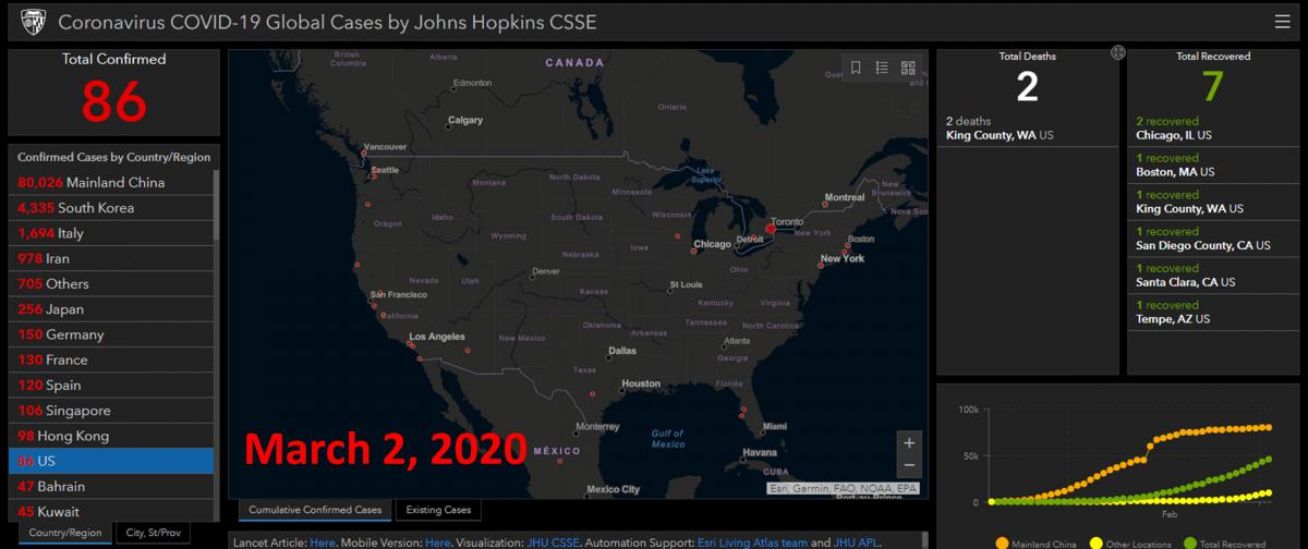 where is coronavirus now interactive map