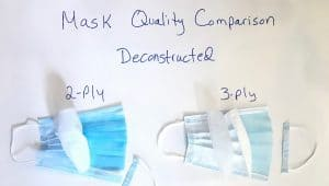 2ply vs 3 ply disposable mask